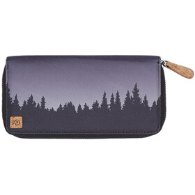 tentree Banker Zip Wallet Dame Meteorite Black Juniper